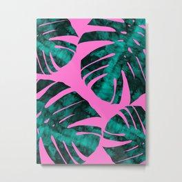 Composition tropical leaves IX Metal Print