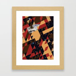Tesseract Collision Framed Art Print