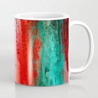 ice Mugs featuring Ice Curtain by Klara Acel