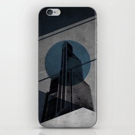 Blue Abstract Building iPhone Skin