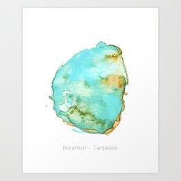 December Turquoise Art Print