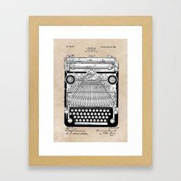 patent art Granville Type Writer 1900 Framed Art Print