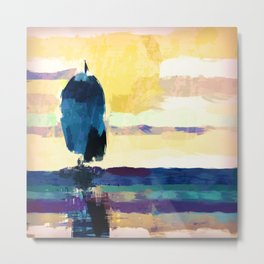 Sailing in the evening Metal Print