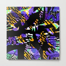 Neon Claws Metal Print