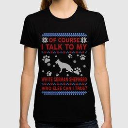 White German Shepherd Ugly Christmas Sweater T-shirt