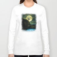 agnes Long Sleeve T-shirts featuring The Moon and the Tree. by Viviana Gonzalez