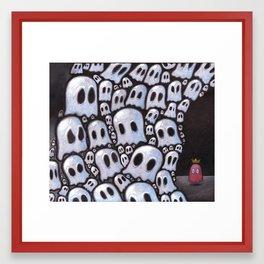 100 ghosts Framed Art Print