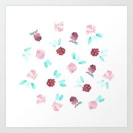 Clover Flowers Art Print