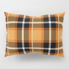 Orange + Black Plaid Pillow Sham
