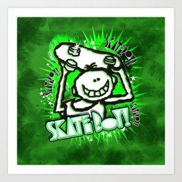 Skate Boy Graffity 2 Art Print