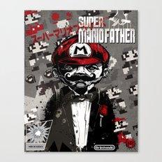 Super Mario Father Canvas Print