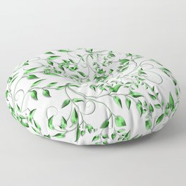 PALM LEAFY GREEN LEAVES Floor Pillow