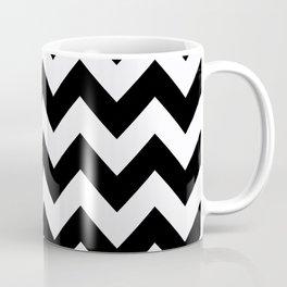 Black Bold Chevron Coffee Mug