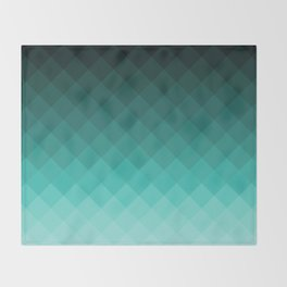 Ombre squares Throw Blanket