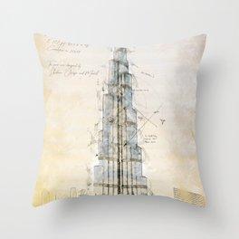 Burj Khalifa, Dubai Throw Pillow