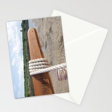 Rope on the tiller Stationery Cards