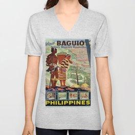 Vintage poster - Philippines Unisex V-Neck