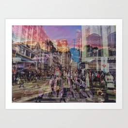 San Francisco city illusion Art Print
