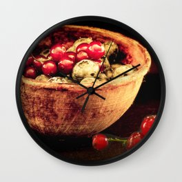 Berry mixed Wall Clock