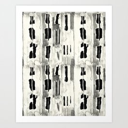 Minimal Black and Cream Abstract Design Art Print