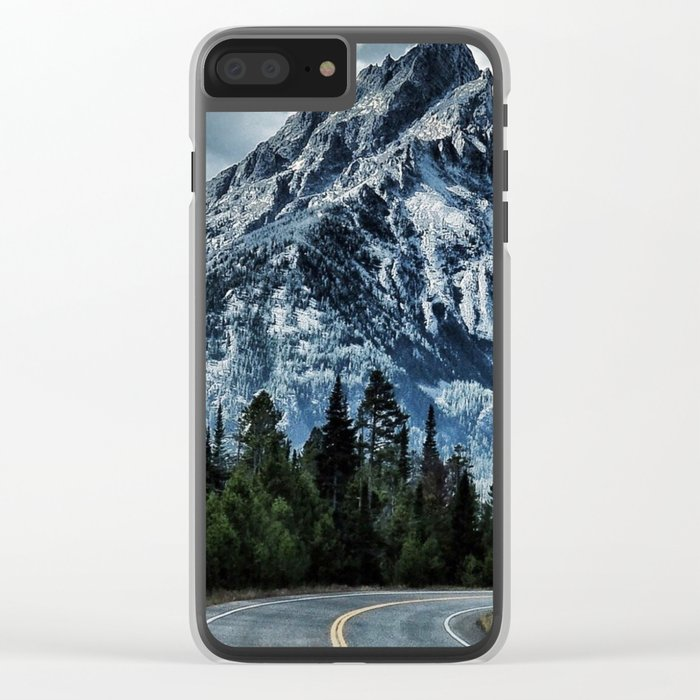 Mountain road Clear iPhone Case