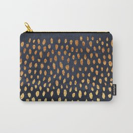 Pattern Play / Navy & Gold Carry-All Pouch