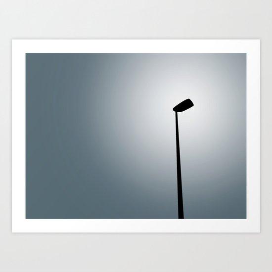 LIGHT ON A PALE SKY Art Print