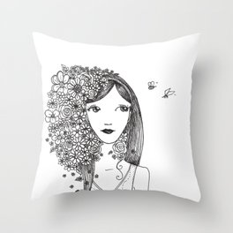 wake up your mind Throw Pillow