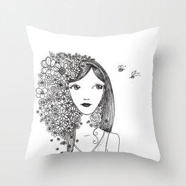 wake up your mind Throw Pillow