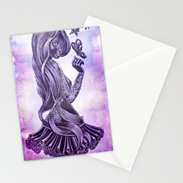 Purple Swirl Stationery Cards