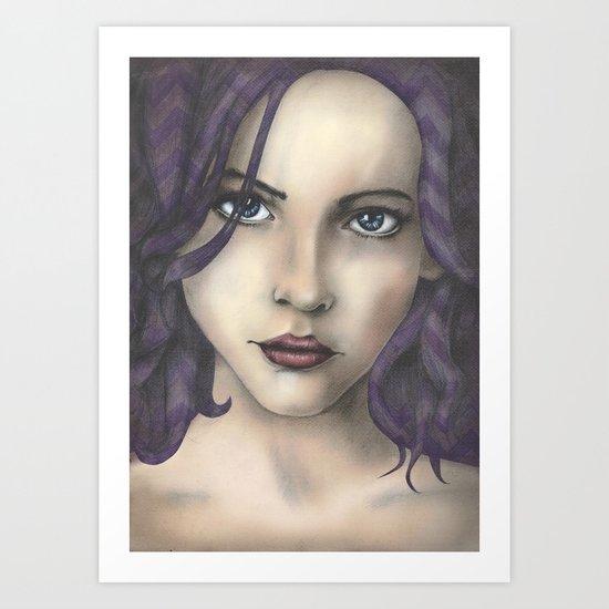 Chevron Ladies Art Print
