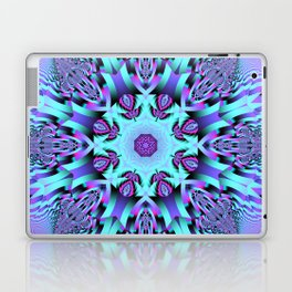 Kaleidoscope Patterns in purple, pink and mint Laptop & iPad Skin