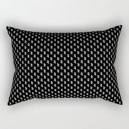 Saturn Noir Pattern Rectangular Pillow