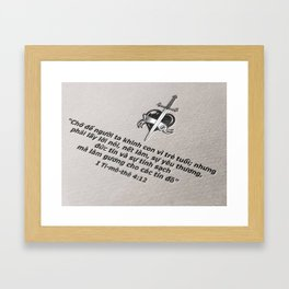 Reality text effect Framed Art Print