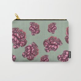Pink Peonies PAttern Carry-All Pouch
