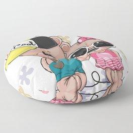 Teddy Bear Couple Floor Pillow