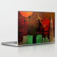 takmaj Laptop & iPad Skins featuring Jump on the green city by Ganech joe