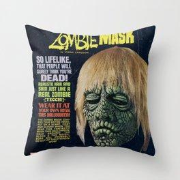 Zombie Mask Throw Pillow