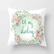 Oh my darling floral Throw Pillow