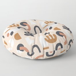Abstract Seamless Pattern Hand Drawn Shapes Doodle Objects Floor Pillow