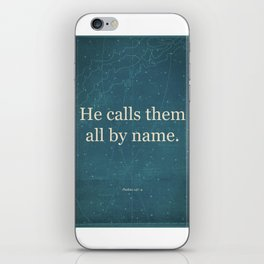 He Calls Them All By Name. iPhone Skin