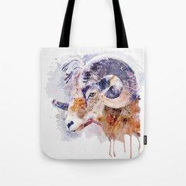 Bighorn Sheep watercolor portrait Tote Bag