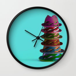 Hat Mountain Wall Clock