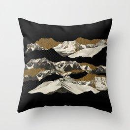 Golden Zugspitze / Black Throw Pillow