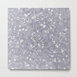 Lilac Gray Polka Dot Bubbles Metal Print