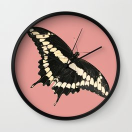 Butterfly Illustrated Print Wall Clock