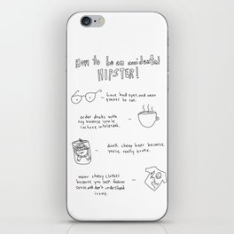 How to be an accidental hipster iPhone Skin