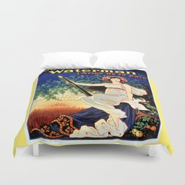 Waterman fountain pens 1919 Duvet Cover