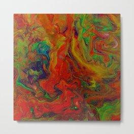 Dark Psychedelic marble Metal Print