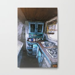 Narrowboat Kitchen Metal Print